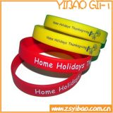 Wristband variopinto personalizzato del silicone, elastico, braccialetto del silicone con il marchio