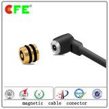 1 Pin 원형 남성과 Femalemagnetic USB 케이블 연결관