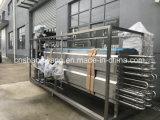 La leche, jugo de la máquina de esterilización