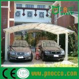 Поликарбонат изогнутой крыши двойной Carports навесами (130 КПП)