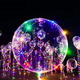 Свет украшения свадебного банкета света шнура рождества воздушного шара СИД Bobo гелия праздника светлый