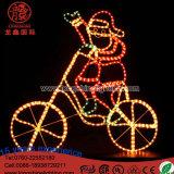 Рождество Санта СИД Ligthing на велосипеде с светом украшения Chriatmas мотива регулятора