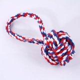Esfera durável da corda do algodão do animal de estimação do brinquedo do treinamento do cão