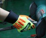 PVC Gants de travail mécanique Impact-Resistant en pointillés avec TPR