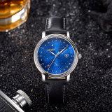 Z366-nieuw Horloge van de Mens van het Polshorloge van de Mensen van het Leer van de Manier het Koele Toevallige