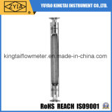 Contador de flujo de alta temperatura del gas del amoníaco de la Tri-Abrazadera del tubo de cristal del bajo costo
