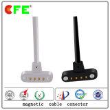 3.0mm Abstand-Mannes-und Weibchen4 Pin-magnetischer elektrisches Kabel-Verbinder für die Aufladung