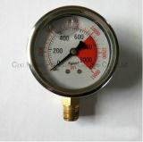 63mmの耐熱性Antisepsisの圧力計