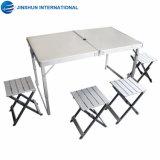Faltender Möbel-gesetzter im Freien Aluminiumtisch und Stuhl der Prämien-4+1