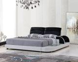 現代ホーム寝室の革ベッド