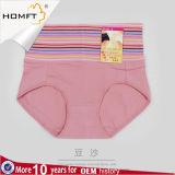 Hohe Taillen-Unterwäsche-Streifen-Baumwollformer-Frauen, die Schlüpfer abnehmen