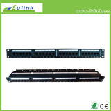 Lc5PP2402U106 UTP Cat5e 24 Port Patch Panel com Bar (uso duplo)