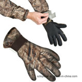 Altos guantes de la trampa de la longitud del codo del guante de la caza del neopreno del camuflaje del estiramiento