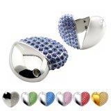Bijoux en diamants de luxe forme de coeur pour cadeau de lecteur Flash USB