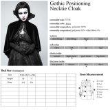 Capote noble del cordón de princesa High Collar Short Velvet del palacio gótico Y-782