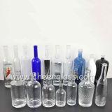 Fles van de Alcoholische drank van het Glas van de Fabrikant van China de Duidelijke voor Wodka/Brandewijn/Whisky