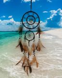 Dreamcatcher Handmade com pena natural, coletor ideal