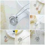 925 Silver стерлингов мода украшения свадебного танца Diamond подвесной ожерелья Ювелирные изделия