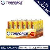 pile alcaline 1.5volt sèche primaire avec Ce/ISO 30PCS/Box (LR03/AM-4/AAA)