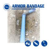 Acqua che indurisce l'involucro del tubo del nastro dell'epossidico della fasciatura di riparazione del tubo della fibra della resina