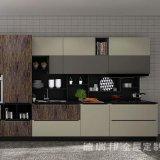 水晶石造りのカウンタートップの食料貯蔵室の高級家具の木製の利得のカスタム現代食器棚