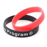 L'abitudine ha impresso i Wristbands del silicone, verniciati con i braccialetti del silicone di stampa di colore