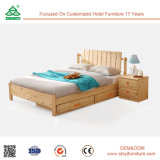木のBed Storage Wooden Bed大尉の機能木のベッド
