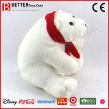 아이를 위한 ASTM 박제 동물 견면 벨벳 북극 곰 연약한 장난감