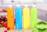 Tarro plástico de la alta calidad 200ml con la venta al por mayor plástica del casquillo de la superficie de la etiqueta
