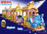 Tren de carril eléctrico Tren de Kiddie operado con monedas en Toy Kiddie Ride de diversión
