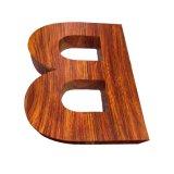 Cartas No-Iluminadas muestras de madera del grano