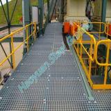 特定の電流を通された鋼鉄格子パネル