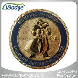 ダイヤモンドの端が付いている高品質の金属の硬貨