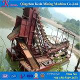 専門の金の浚渫船のバケツの梯子の浚渫船
