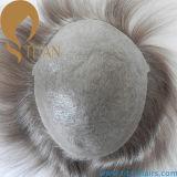 Toupee sottile della pelle del sistema unità di elaborazione dei capelli umani di 100%