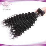 Do cabelo peruano não processado profundo livre quente do Virgin da onda da amostra do cabelo do Natal preço de grosso