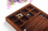 Brown Multiple Function Jewelry Display Bandeja para Pulseira Necklace Earring