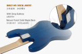 Типа твердого тела 4-String j цвета ODM OEM гитара голубого электрическая басовая