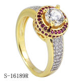 Hotsale 925 de Zilveren Ring van de Dames van de Ringen van Micropave CZ Buitensporige