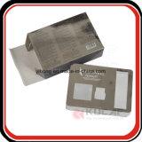 Rectángulo de empaquetado de Carboard de la impresión del oro ULTRAVIOLETA de la plata con la ventana