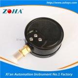 Manómetro de bronze do conetor da caixa de aço preta da prova da poeira