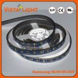 Bandes extérieures flexibles de lumière de l'éclairage de bande 24V DEL pour des barres