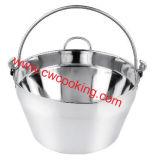 カバーのない1PCステンレス鋼の込み合い鍋