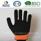 Покрытие нитрила, перчатки работы безопасности отделки Sandy (SL-NS117)