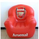 Chaise canapé gonflable en PVC couleur rouge pour promotion