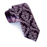 Cravate imprimée 100% en soie imprimée à la main pour hommes