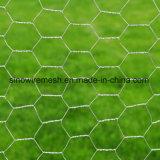 PVC上塗を施してある六角形ワイヤー網の六角形の金網