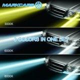 車のためのMarkcars 9600lm 12V 3カラーLED H7