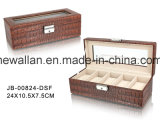 Handgemachte Geschenk-Luxuxbildschirmanzeige, die PU-ledernen Uhr-Kasten/Fall verpackt