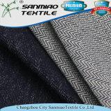 Ultimo tessuto del denim del cotone del Knit della saia tinto dell'indaco di disegno filato